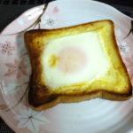 食パンに卵をのせる簡単レシピを試した結果