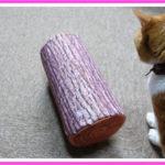 猫と丸太クッションの使い方