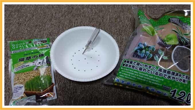 猫草キット皿