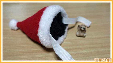 猫のサンタ帽