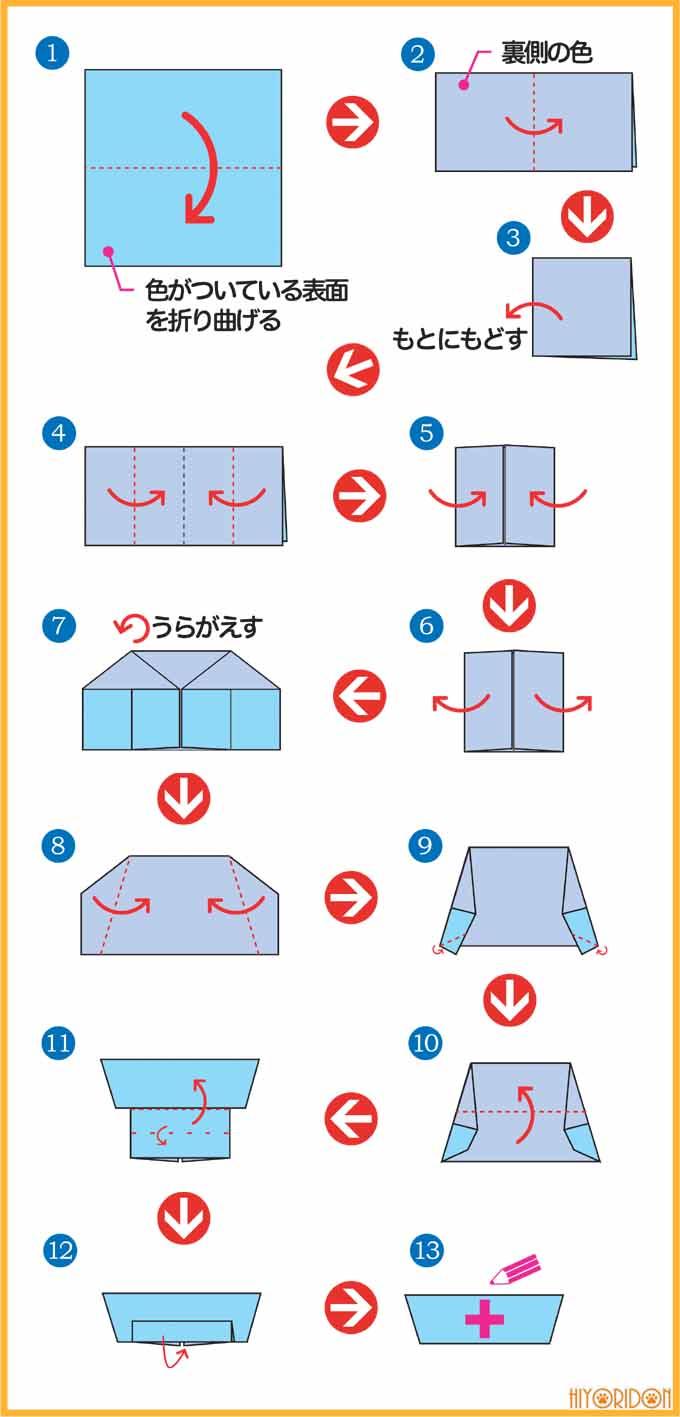 ナースキャップの折り方